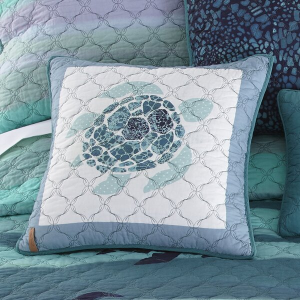 Fredette Sea Turtle 100% Cotton Throw Pillow by Highland Dunes